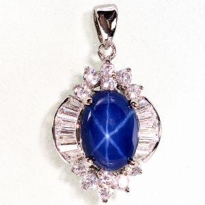 Shop aladins collection blue star pendant necklace aloadofball Gallery